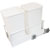 Hafele Double Built-In Bottom Mount Pull-Out MX Trash Cans, Steel, White with White Bins, 2 x 27 Qt (2 x 6.75 Gal)