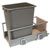 Hafele Single Built-In Bottom Mount Pull-Out MX Trash Can, Steel, Champagne with Champagne Bin, 36 Qt (9 Gal)