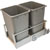 Hafele Double Built-In Bottom Mount Pull-Out MX Trash Cans, Steel, Champagne with Champagne Bin, 2 x 52 Qt (2 x 13 Gal)