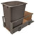 Hafele Single Built-In Bottom Mount Pull-Out MX Trash Can, Steel, Champagne with Champagne Bin, 52 Qt (13 Gal)