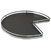 "Hafele 32"" Diameter ""Arena Plus"" 3/4 Round Pie-Cut Shelf Mounted Kidney Lazy Susan (2-Shelf Set), Chrome/Anthracite"