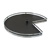 "Hafele 28"" Diameter Revolving Kidney Corner Lazy Susan - 2 Arena Plus Non-Slip Tray Set, Chrome/Anthracite"