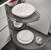"Hafele ""LeMans"" Kitchen Blind Base Corner Organizer, Chrome/Anthracite, Right or Left Swing Trays, Adjustable Post"