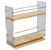 """Hafele Individual Pull-Out Spice Rack, Birch and Stainless Steel, 3-1/4"""" W x 10-3/4"""" D x 10-3/4"""" H"""