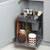 "Hafele Kitchen Tower 450 Base Unit Pull-Out, Silver, Steel/Plastic, for 18"" Frameless Cabinets"