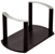 """Hafele """"Fineline"""" Plate Holder with S/S Handle, Black Ash, 13-3/8"""" W x 7-1/16"""" D x 7-1/16"""" H"""