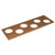 """Hafele """"Fineline"""" Container Holder with 6 Holes, Mahogany, 16-11/16""""W x 5-7/16""""D x 7/16""""H"""