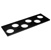 """Hafele """"Fineline"""" Container Holder with 6 Holes, Black Ash, 16-11/16"""" W x 5-7/16"""" D x 7/16"""" H"""