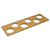 """Hafele """"Fineline"""" Container Holder with 6 Holes, White Oak, 16-11/16""""W x 5-7/16""""D x 7/16""""H"""
