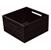 "Hafele ""Fineline"" Move Kitchen Storage Box 2, Black Ash, 8-5/16"" W x 8-5/16"" D x 4-3/4"" H"