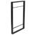 """Hafele YouK Ladder Jet Black Shelving System, 12-5/8"""" D x 35-5/8"""" H"""