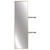 "Hafele Elite Closet Pull-Out Mirror, Matt Gold Frame, 13-1/8""W x 1-5/16""D x 47-3/8""H"