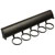"Hafele ""Synergy Elite"" Collection Telescopic Scarf Rack for Wardrobe or Closet, 5 Hooks, Dark Oil-Rubbed Bronze, 11-7/8"""