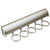 "Hafele ""Synergy Elite"" Collection Telescopic Scarf Rack for Wardrobe or Closet, 5 Hooks, Matt Nickel, 11-7/8"""