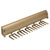 "Hafele ""Synergy Elite"" Collection Telescopic Tie Rack, 15 Hooks, Matt Gold, for Door or Side of Wardrobe Mounting"