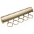 "Hafele ""Synergy Elite"" Collection Telescopic Scarf Rack for Wardrobe or Closet, 5 Hooks, Matt Gold, 11-7/8"""