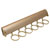 "Hafele ""Synergy Elite"" Collection Telescopic Scarf Rack for Wardrobe or Closet, 6 Hooks, Matt Gold, 13-7/8"""