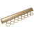 "Hafele ""Synergy Elite"" Collection Telescopic Scarf Rack for Wardrobe or Closet, 8 Hooks, Matt Gold, 17-7/8"""