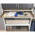 Hafele Engage Divided Deep Drawer, Matt Gold Frame with Beach Fabric