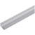 "Hafele Designer LOOX Surface Mounted Extrusion Profile, Aluminum, 2m (78-3/4"") Length, 19mm D x 12mm H (3/4"" x 15/32"")"