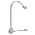 """Hafele LOOX 12V #2034 Flexible LED Reading Light with USB Charging Station with 3 LEDs, Cool White 4000K, 450mm (17-3/4"""") Length, Matt Silver"""