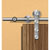 Hafele Project Sliding Door Hardware for Wood Doors Up to 220 lbs. each, with Hollow Stainless Steel Track, Matt Stainless