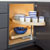 Hardware Resources Half-Moon Lazy Susan 2-Shelf Set with Wood Trays