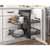 Hardware Resources Full 18'' W Brushed Nickel Blind Corner Organizer Lifestyle View