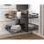 Hardware Resources Standard 15'' W Brushed Nickel Blind Corner Organizer Lifestyle View 2