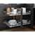 Hardware Resources Standard 15'' W Polished Chrome Blind Corner Organizer Lifestyle View