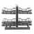 Hardware Resources Standard 18'' W Brushed Nickel Blind Corner Organizer Display View