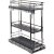 "Hardware Resources Storage with Style™ 8"" Wire Base Pullout in Black Nickel Frame, For 9"" Minimum Cabinet Opening, 8-15/16"" W x 21-5/16"" D x 24-1/16"" H"