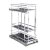 "Hardware Resources Storage with Style™ 8"" Wire Base Pullout in Polished Chrome Frame, For 9"" Minimum Cabinet Opening, 8-15/16"" W x 21-5/16"" D x 24-1/16"" H"