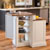 Home Styles Woodbridge Two Tier Island & Two Stools in White/Oak