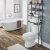 "Home Styles Barnside Metro Over the Commode Bath Shelf , Driftwood, 25"" W x 8-1/2"" D x 64"" H"