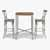 "Home Styles Orleans Caramel Wood Top Bar Table and Two Stools, Table: 30""W x 30""D x 42""H, Stool: 17-3/4""W x 21-1/2""D x 46-1"