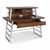"Home Styles Degree Home Office Desk with Hutch, Modern Brown, 54""W x 24""D x 43-3/4""H"