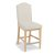"""Home Styles Cambridge Counter Stool, White Washed/ Nickle, 18"""" W x 25"""" D x 43-3/4"""" H"""