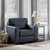 "Home Styles Alex Upholstered Contemporary Chair, Black, 37-3/4""W x 34-1/2""D x 34-1/2""H"