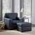 "Home Styles Alex Upholstered Contemporary Chair & Ottoman, Black, Chair: 37-3/4""W x 34-1/2""D x 34-1/2""H, Ottoman: 24-1/4""W x 20-1/2""D x 17-1/4""H"