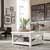 "Home Styles Seaside Lodge Coffee Table, White, 36""W x 36""D x 18""H"