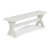 "Home Styles Seaside Lodge Trestle Bench, White Painted, 54"" W x 14"" D x 18"" H"