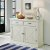 "Home Styles Seaside Lodge Buffet, White Painted, 47"" W x 18"" D x 36-1/4"" H"