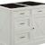 "Home Styles Seaside Lodge Kitchen Island in Hand Rubbed White, 47"" W x 30"" D x 36"" H"