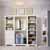 "Home Styles Naples 3-Piece Closet Organizer, White, 86""W x 20""D x 82""H (3-Piece Wall Unit)"