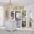 "Home Styles Naples 4-Piece Closet Organizer, White (3-Piece Wall Unit and 36"" Closet Island)"