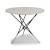 "Home Styles Du Jour Outdoor / Indoor Round Tile Top Table in White Concrete, Black Powder-Coated Frame Finish, 35-1/2"" Diameter x 30"" H"