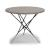 "Home Styles Du Jour Outdoor / Indoor Round Tile Top Table in Gray Concrete, Black Powder-Coated Finish, 35-1/2"" Diameter x 30"" H"