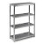 "Home Styles Bold Stainless Steel Collection 4-Tier Bath Shelf in Brushed Stainless Steel, 24"" W x 11"" D x 38"" H"