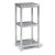 "Home Styles Bold Stainless Steel Collection 3-Tier Bath Shelf in Brushed Stainless Steel, 13"" W x 11"" D x 28"" H"